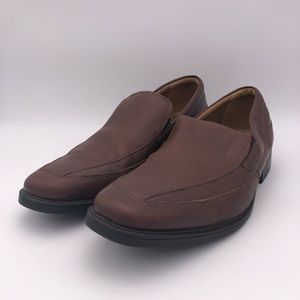 Clarks Leather Cushion Ortholite Loafers M Size 11